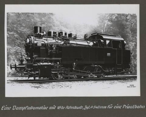 Dampflokomotive fur eine Privatbahn