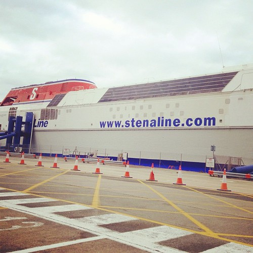 Waiting to board the ferry for #Ireland.