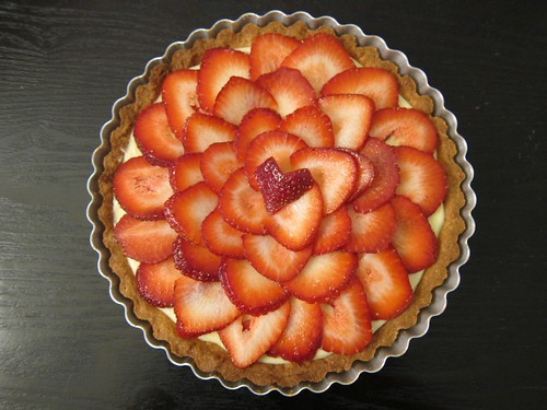 Strawberry Lemon Curd Fruit Tart