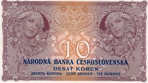 Alphonse Mucha banknote