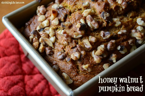 honey walnut pumpkin bread