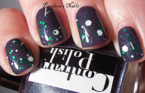 Dollish Polish 1-UP over Contrary Polish Inky Fingers 2