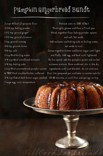 Pumpkin Gingerbread Bundt, text