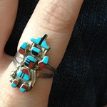 sterling and turquoise ring from serita86 on Poshmark
