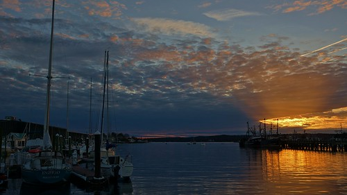Gloucester MA Harbor At Dusk  South Channel 5:34PM 10/24/12