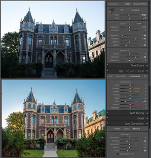 Post-processing: Before and after