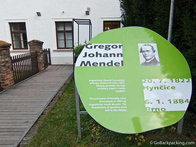 Outside the Mendel museum