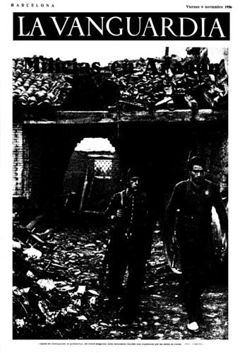 La Vanguardia, 6 de noviembre de 1936. «Frente de Aragón» foto Agustí Centelles by Octavi Centelles