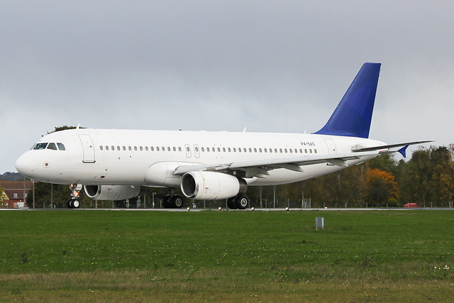 P4-SAS 'Air Astana' A320 at Southend EGMC