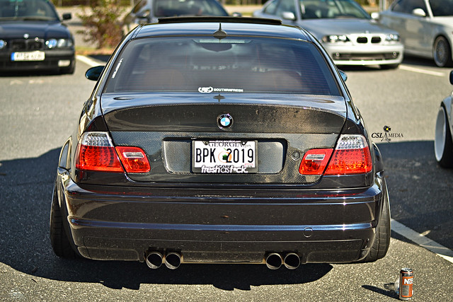 Stanced Bmw E46 M3 With Carbon Fiber Bootlid Flickr