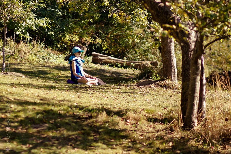 meditating in piper's orchard