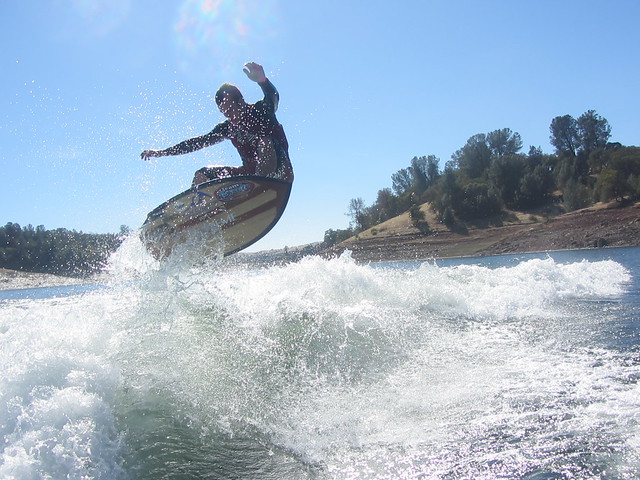 Late October Wakesurfing 325