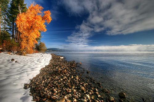 california autumn usa laketahoe