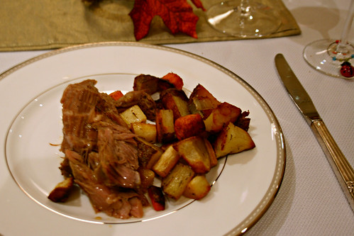 Glazed Pork with Roasted Root Vegetables