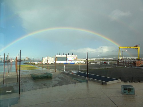 Rainbow over the old slipways