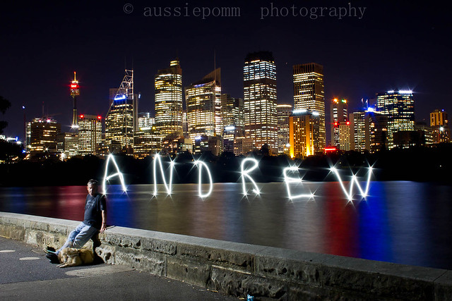 Andrew (blind photographer) with Sydney CBD