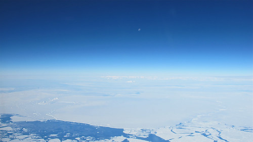 Moon over Antarctic