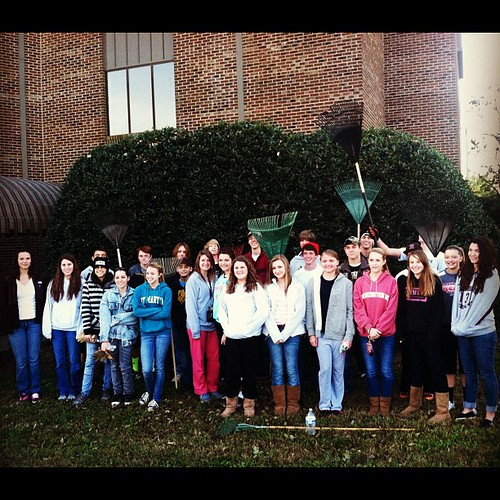 Rake and Run 2012. #homeschool #serviceproject #highschool