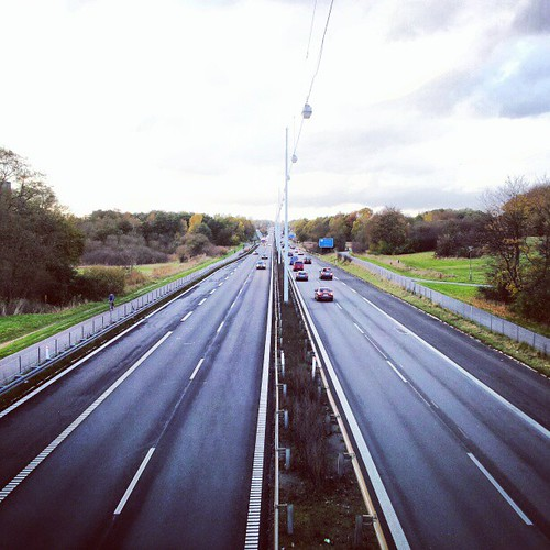 Cycle tracks on both side of every motorway leading to #Copenhagen. #bike