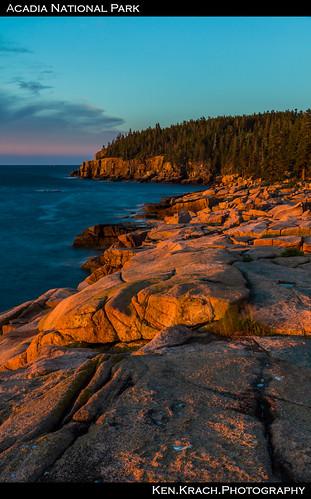 ocean water sunrise maine newengland atlanticocean acadia acadianationalpark mygearandme