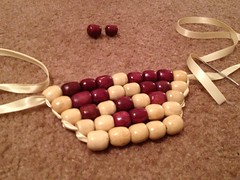 Wooden Bead Bib Necklace - Step 3