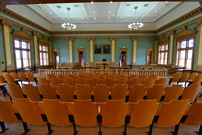 Restored courtroom, Coweta County Courthouse