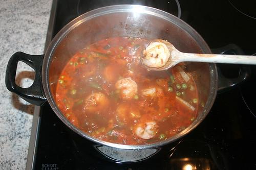44 - Garnelen-Gemüse-Topf / Prawn vegetable stew - Garnelen hinzufügen / Add prawns