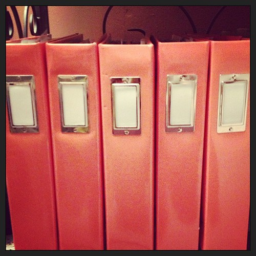 These are my FIVE project life binders for 2012 #projectlife #needtomakelabels