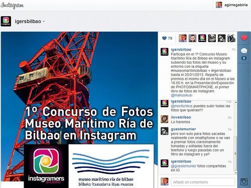 1º Concurso Museo Marítimo Ría de Bilbao en Instagram