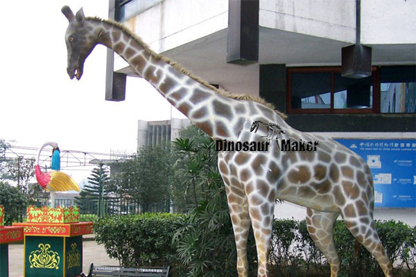 Animatronic Giraffe Model exhibited