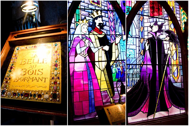 Disneyland Paris Stained Glass Collage