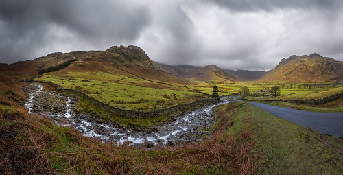 Kettle Crag & Redacre Gill (Langdale Panorama), Lake District by flatworldsedge