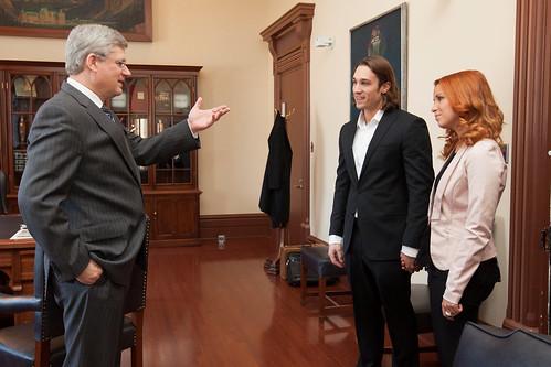 J'ai eu le plaisir de rencontrer Hubert et Andréanne, gagnants d'Occupation double, dans mon bureau aujourd'hui.