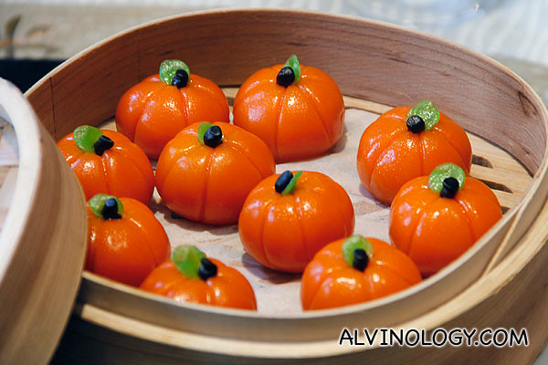 Steamed Mini Pumpkin Dumpling with Green Bean Paste