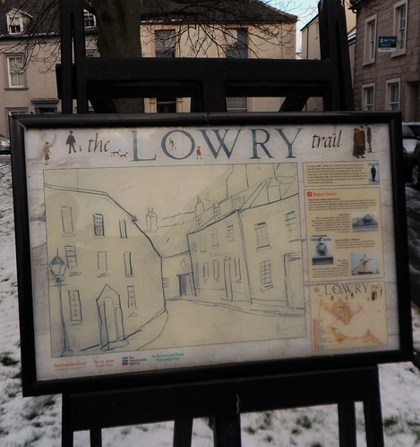 Palace Street Plaque on Lowry Trail in Berwick upon Tweed