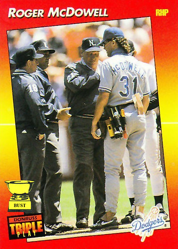 Baseball Card Bust Roger Mcdowell 1992 Donruss Triple Play