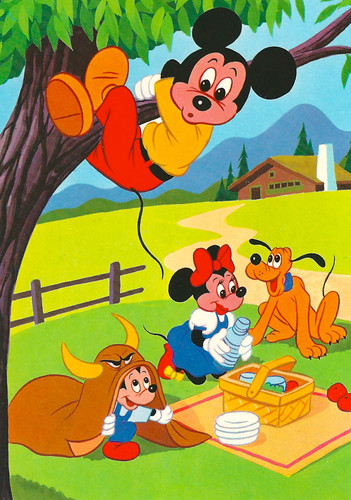 Disney - Mickey with  Pluto and Morty or Ferdie? - Millie or Melody?