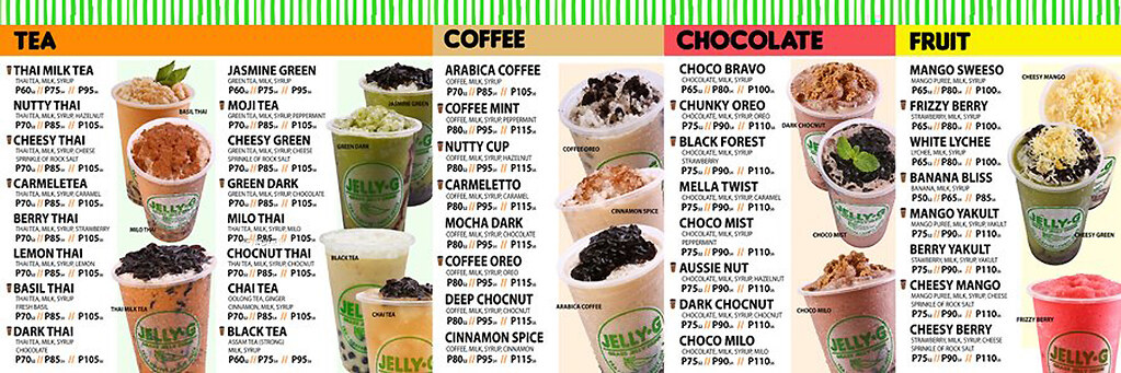 Jelly G Menu