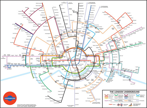 Circular Tube Map by Max Roberts