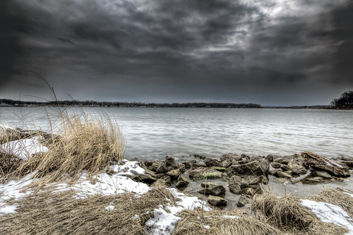 winter snow cold ice landscape day cloudy foreboding maryland desaturated annapolis breezy quietwaterspark southriver naptownphoto pwwinter