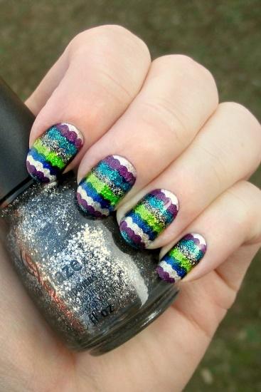 Metallic Ruffle Manicure
