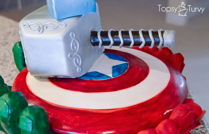 Avengers Birthday Cake Ashlee Marie Real Fun With Real Food