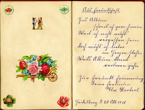 Klaras Poesiealbum 1918 Sütterlin Sütterlinschrift