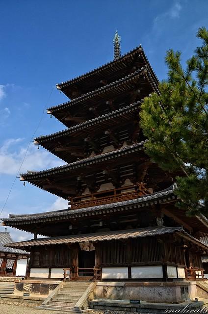 「五重塔」 法隆寺 - 奈良