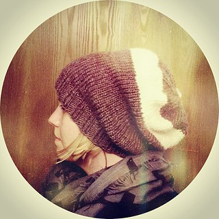 Just finished knitting this slouchy hat for myself.