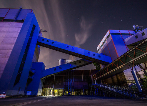 grube göttelborn mining area night stars longexposure langzeitbelichtung nacht sterne