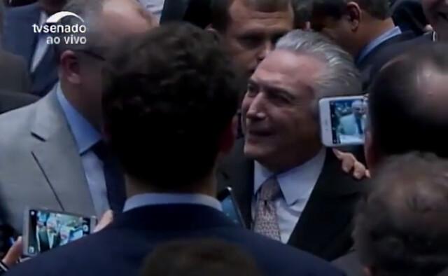 Temer asumió como presidente en una nueva sesión en el Senado el miércoles, a las 4 P.M. - Créditos: Foto: Reproducción/TV Senado
