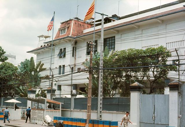 NAVFORV Headquarters Saigon, Vietnam 2 Sep 1971 - Bộ tư lệnh Hải Quân Mỹ tại VN, góc Phan Đình Phùng-Đoàn Thị Điểm