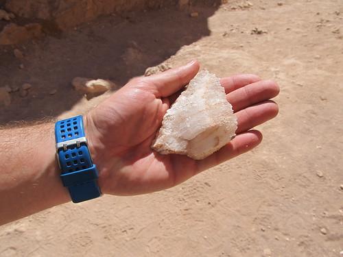 Le désert d'Atacama: crystal de sel trouvé au pied de la Duna Mayor (Valle de la Luna)
