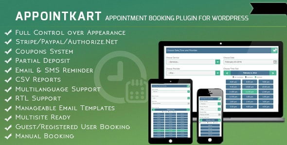 Appointkart v4.3 – Appointment Booking and Scheduling